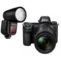 Compare Prices Of  Nikon Z6 FX-Format Mirrorless Camera with NIKKOR Z 24-70mm f/4 S Lens - With Flashpoint Zoom Li-on X R2 TTL On-Camera Round Flash Speedlight For Nikon (V1)
