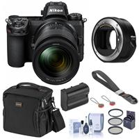 Image of Nikon Z6 FX-Format Mirrorless Camera with Z 24-70mm f/4 S Lens with FTZ Mount Adapter Bundle with Bag, Extra Battery, Wrist Strap, Filter Kit, Cleaning Kit