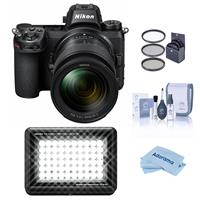 Image of Nikon Z6 FX-Format Mirrorless Camera with NIKKOR Z 24-70mm f/4 S Lens - With Litra LitraPro Bi-Color On-Camera Light, 72mm Filter Kit, Cleaning Kit, Microfiber Cloth