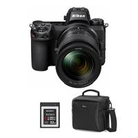 Image of Nikon Z6 FX-Format Mirrorless Camera with NIKKOR Z 24-70mm f/4 S Lens - Bundle With, 32GB Premium XQD Memory Card Camera Case