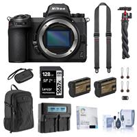 Image of Nikon Z 6II Mirrorless Digital Camera Body Bundle with 128GB SD Card, Backpack, 2x Extra Battery, Dual Charger, SlideLITE Strap, Octopus Tripod, Screen Protector and Accessories Nikon Z 6II Mirrorless Camera Body