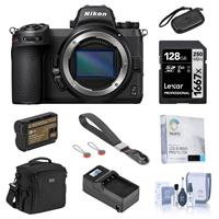 Image of Nikon Z 6II Mirrorless Digital Camera Body Bundle with 128GB SD Card, Bag, Wrist Strap, Extra Battery, Charger, Screen Protector and Accessories