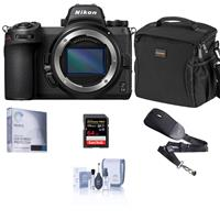 Compare Prices Of  Nikon Z 6II Mirrorless Digital Camera Body Bundle with 64GB SD Card, Bag, Screen Protector, Sling Strap, Cleaning Kit