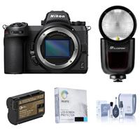 Image of Nikon Z 6II Mirrorless Digital Camera Body Bundle with Flashpoint Zoom Li-on X R2 TTL On-Camera Round Flash, Extra Battery and Accessories