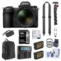 Image of Nikon Z 6II Mirrorless Digital Camera with NIKKOR Z 24-70mm f/4 S Lens Bundle with 128GB SD Card, Backpack, 2x Extra Battery, Dual Charger, SlideLITE Strap, Octopus Tripod and Accessories