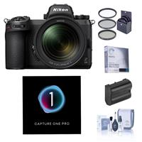Image of Nikon Z 6II Mirrorless Digital Camera with NIKKOR Z 24-70mm f/4 S Lens Bundle with Capture One Pro Photo Editing Software, Extra Battery, Filter Kit, Screen Protector, Cleaning Kit