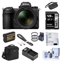 Image of Nikon Z 6II Mirrorless Digital Camera with NIKKOR Z 24-70mm f/4 S Lens Bundle with 128GB SD Card, Bag, Wrist Strap, Extra Battery, Charger, Filter Kit and Accessories