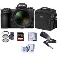 Image of Nikon Z 6II Mirrorless Digital Camera with NIKKOR Z 24-70mm f/4 S Lens Bundle with 64GB SD Card, Bag, Screen Protector, Sling Strap, Filter Kit, Cleaning Kit