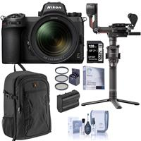 Image of Nikon Z 6II Mirrorless Digital Camera with NIKKOR Z 24-70mm f/4 S Lens Bundle with DJI RS 2 Pro Combo Gimbal Stabilizer, 128GB SD Card, Backpack, Extra Battery, Filter Kit and Accessories
