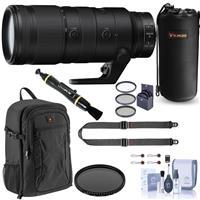 Image of Nikon NIKKOR Z 70-200mm f/2.8 VR S Lens for Z Series Mirrorless Cameras, Bundle with Backpack, Peak Design SlideLITE Strap, Filter Kit, Case, Lens Cleaner, Cleaning Kit