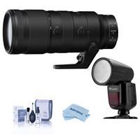 Image of Nikon NIKKOR Z 70-200mm f/2.8 VR S Lens for Z Mount, Bundle with Flashpoint X R2 Speedlight