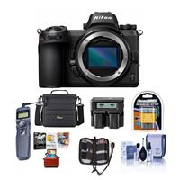 Image of Nikon Z7 FX-Format Mirrorless Camera Body - Bundle With Camera Case, Spare Battery, Dual Charger, Remote Shutter Trigger, Cleaning Kit, Memory Wallet, Mac Software Package