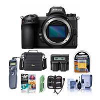 Image of Nikon Z7 FX-Format Mirrorless Camera Body - Bundle With Camera Case, Spare Battery, Dual Charger, Remote Shutter Trigger, Cleaning Kit, Memory Wallet, Pc Software Package