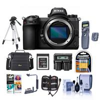 Image of Nikon Z7 FX-Format Mirrorless Camera Body - Bundle With Camera Case, Spare Battery, Dual Charger, Tripod, Sony 32GB XQD Memory Card, Remote Shutter Trigger, Flip Flash Bracket, Software Package, And More