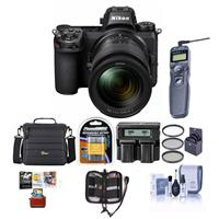 Image of Nikon Z7 FX-Format Mirrorless Camera with NIKKOR Z 24-70mm f/4 S Lens - Bundle With Camera Case, Spare Battery, 72mm Filter Kit, Dual Charger, Remote Shutter Trigger, Mac Software Package, And More