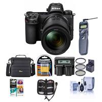 Image of Nikon Z7 FX-Format Mirrorless Camera with NIKKOR Z 24-70mm f/4 S Lens - Bundle With Camera Case, Spare Battery, 72mm Filter Kit, Dual Charger, Remote Shutter Trigger, Pc Software Package, And More