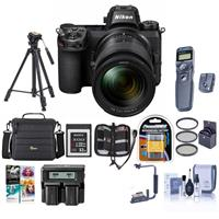 Image of Nikon Z7 FX-Format Mirrorless Camera with NIKKOR Z 24-70mm f/4 S Lens - Bundle With Camera Case, Spare Battery, Dual Charger, Tripod, Sony 32GB XQD Memory Card, Remote Shutter Trigger, Software And More