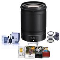 Image of Nikon NIKKOR Z 85mm f/1.8 S Lens for Z Series Mirrorless Cameras - Bundle With 67mm Filter Kit, Cleaning Kit, Capleash II, Mac Software Package