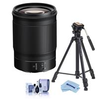 Image of Nikon NIKKOR Z 85mm f/1.8 S Lens for Z Series Mirrorless Cameras - With Slik Sprint Pro III BH Travel Tripod with SBH-100 DQ All Metal Ball Head, Black, Cleaning Kit, Microfiber Cloth