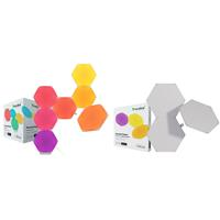 Compare Prices Of  Nanoleaf Shapes Hexagons Smarter Kit with 7x Multicolor Hexagon Light Panels, 100 Lumens - With 2 Pack Nanoleaf Shapes Hexagons Expansion Pack