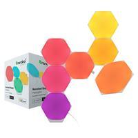 Image of Nanoleaf Shapes Hexagons Smarter Kit with 7x Multicolor Hexagon Light Panels, 100 Lumens