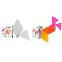 Image of Nanoleaf Shapes Triangles Smarter Kit with 7x Multicolor Triangle Light Panels, 80 Lumens - With 2 Pack Nanoleaf Shapes Triangles Expansion Pack