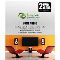 Image of New Leaf 2 Year Home Audio Service Plan for Products Retailing up to $2500.00