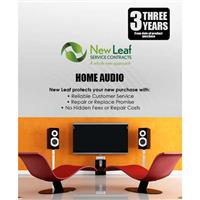 New Leaf 3 Year Home Audio Service Plan for Products Retailing up to $5000.00
