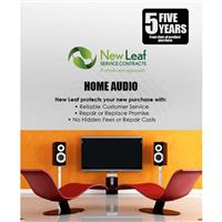 New Leaf 5 Year Home Audio Service Plan for Products Retailing up to $1000.00