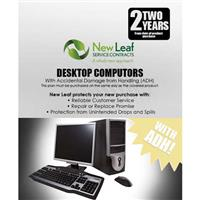 Image of New Leaf PLUS - 2 Year Desktop Computer Service Plan with Accidental Damage Coverage (for Drops & Spills) for Products Retailing up to $4000.00