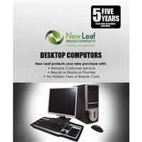 Image of New Leaf 5 Year Desktop Computer Service Plan for Products Retailing up to $500.00