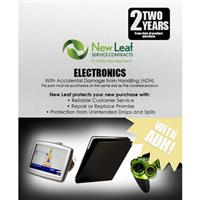 Image of New Leaf PLUS - 2 Year Electronics Service Plan with Accidental Damage Coverage (for Drops & Spills) for Products Retailing up to $250.00