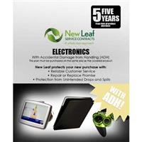 Image of New Leaf PLUS - 5 Year Electronics Service Plan with Accidental Damage Coverage (for Drops & Spills) for Products Retailing up to $750.00