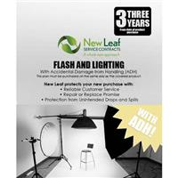Image of New Leaf PLUS - 3 Year Flash & Lighting Service Plan with Accidental Damage Coverage (for Drops & Spills) for Products Retailing up to $500.00