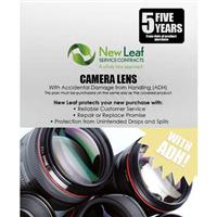 Image of New Leaf PLUS - 5 Year Camera Lens Service Plan with Accidental Damage Coverage (for Drops & Spills) for Products Retailing up to $5000.00