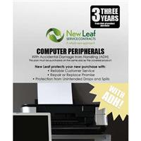Image of New Leaf PLUS - 3 Year Computer Peripheral Service Plan with Accidental Damage Coverage (for Drops & Spills) for Products Retailing up to $250.00