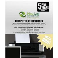 Compare Prices Of  New Leaf PLUS - 5 Year Computer Peripheral Service Plan with Accidental Damage Coverage (for Drops & Spills) for Products Retailing up to $500.00
