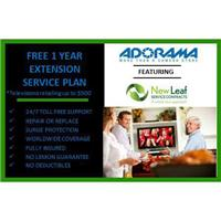 New Leaf 1 Year Extensions Service Plan for Televisions Retailing up to $2500.00