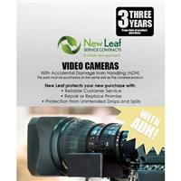 Image of New Leaf PLUS - 3 Year Video Camera Service Plan with Accidental Damage Coverage (for Drops & Spills) for Products Retailing up to $10,000.00
