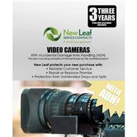 Image of New Leaf PLUS - 3 Year Video Camera Service Plan with Accidental Damage Coverage (for Drops & Spills) for Products Retailing up to $30,000.00