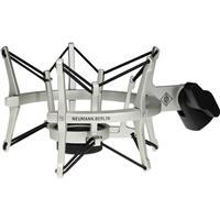 Image of Neumann Elastic Suspension Shockmount for TLM 102 and Sennheiser MK4 Microphones, Nickel Finish