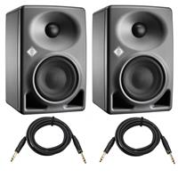 """Compare Prices Of  Neumann 2 Pack KH 80 DSP 4+1"""" Active Monitor, Single - With 2 Pack H&A PlatPro 10' TRS 1/4"""" Male, 1/4"""" Male Interconnect Cable W Rean Connectors"""