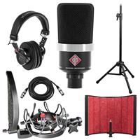Compare Prices Of  Neumann TLM102 Large Diaphragm Cardioid Studio Condenser Microphone, Black Bundle with Rycote InVision Studio Kit, Isolation Filter, Headphones, Tripod Mic Stand and XLR Cable