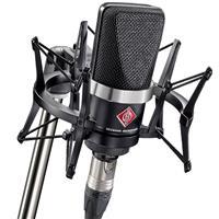 Image of Neumann TLM102 Cardioid Microphone Studio Set with EA4 Shockmount & Carton Box, Black with Premium Sound Isolating Vocal Recording Setup Kit
