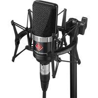Image of Neumann TLM102 Cardioid Microphone Studio Set with EA4 Shockmount & Carton Box, Black