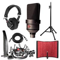 Image of Neumann TLM 103 MT Cardioid Studio Condenser Microphone, Black Bundle with Rycote InVision Studio Kit, Isolation Filter, Headphones, Tripod Mic Stand and XLR Cable