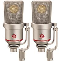 Image of Neumann TLM 170 R Stereo Set, Includes 2 x TLM 170 R Multi-Pattern Microphone, 2 x EA 170 Shock Mount, Dust Cover, Storage Case, Nickel