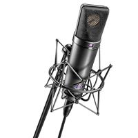 Image of Neumann U 87 Ai Set Z Multi Pattern Condenser Microphone Set with EA 87 Shock Mount and Wooden Box, Matte Black