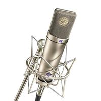 Image of Neumann Microphone Set, Includes U 87 Ai Microphone, EA 87 Shock Mount, WS 87 Windscreen, IC 3/25 Cable, Wooden Jeweler's Case, Nickel