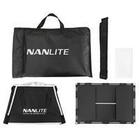 Image of NanLite Barndoor and Softbox Set for MixPad II 27C LED Panel